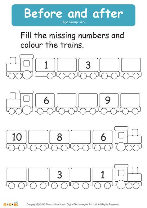 numbers worksheet math  kids mocomi
