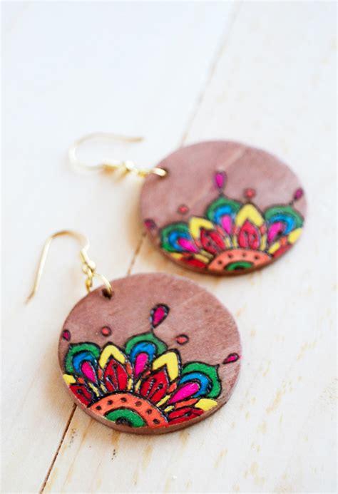 coloring book diy wood earrings allfreejewelrymakingcom