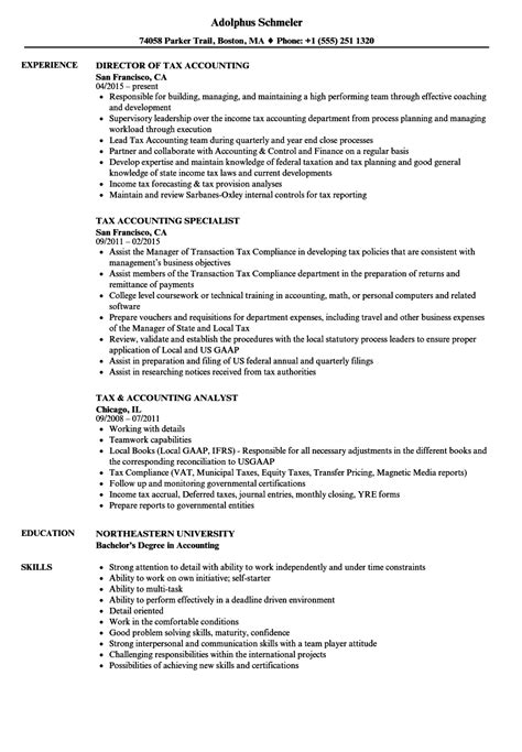 Tax Accountant Resume by Tax Accounting Resume Sles Velvet