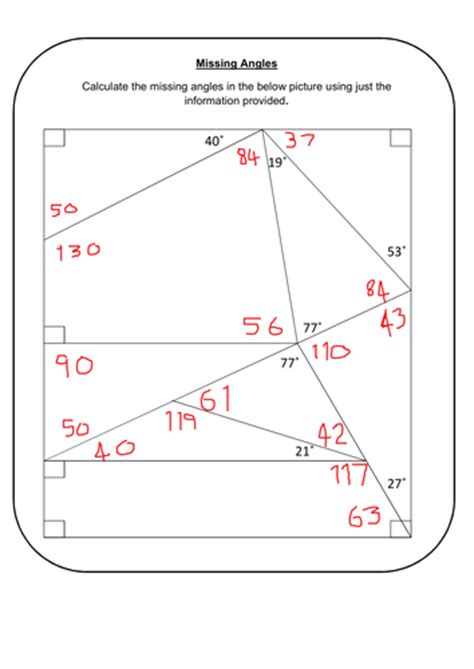 missing angles by prescotmaths teaching resources tes