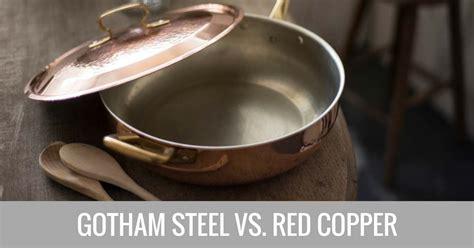 gotham steel  red copper cookware  depth comparison