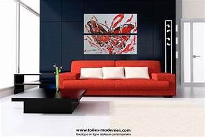 Tableau Contemporain Grand Format : diptyque abstrait figuratif gris horizontal diptyque moderne gris rectangle tendance ~ Teatrodelosmanantiales.com Idées de Décoration