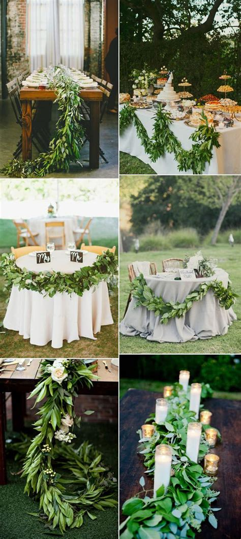 17 best ideas about wedding table garland on pinterest