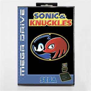 Sonic and Knuckles Game Cartridge 16 bit MD Game Card With ...