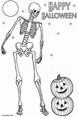 Skeleton Coloring Pages Halloween Printable Skeletons Sheets Cool2bkids Happy Bone Sketch Template sketch template