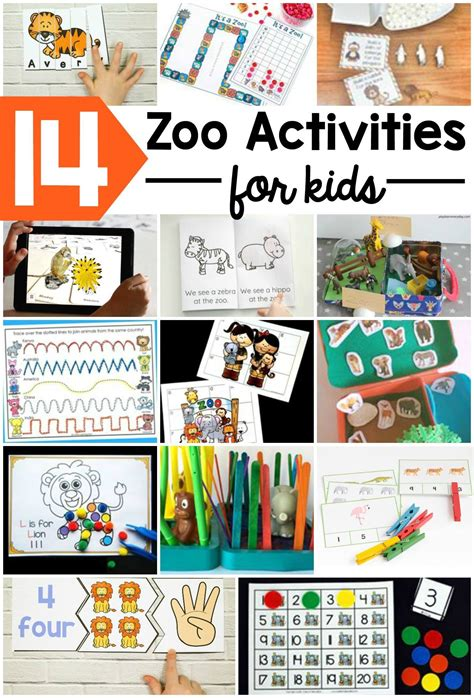 zoo activity stem themed activities animal animals dear science box learning busy preschool theme mats interactive letter pom puzzles motor