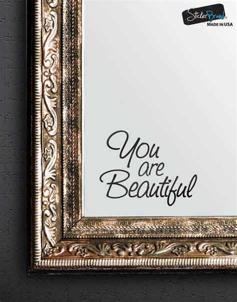 beautiful vinyl decal sticker  mirrors  walls