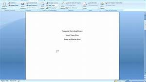 Office 2007 Apa Template Office 2007 Apa Formatting Youtube
