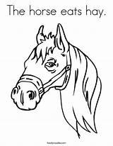 Coloring Oats Template Horse Rodenrijs Berkel Hay Jeugdfestival sketch template