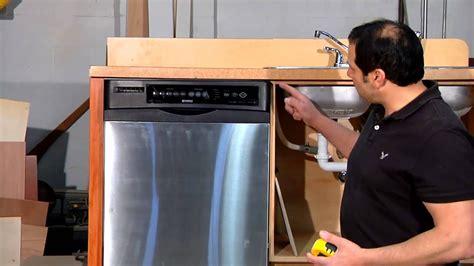 measure   dishwasher installation home sweet