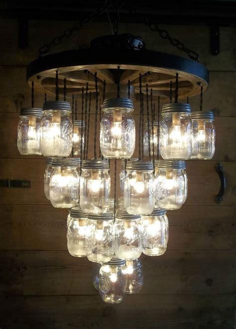 wagon wheel light with mason jars 118 besten wagenrad le bilder auf pinterest