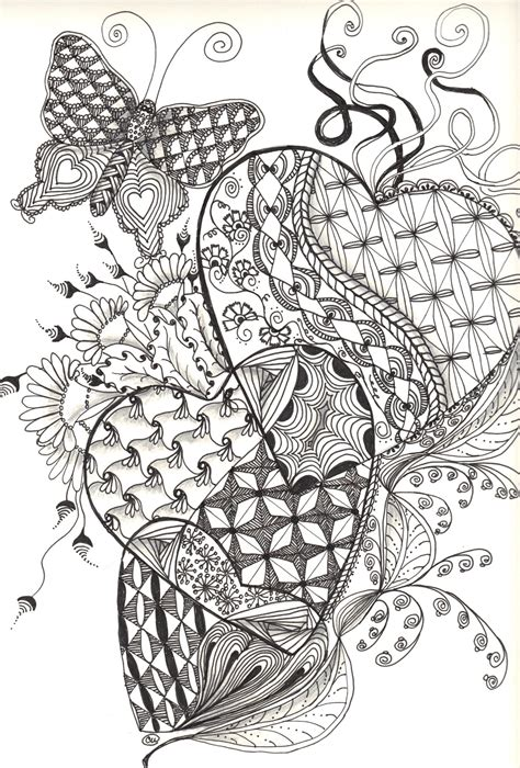 Coloring Zentangle by Collectincat Creations September 2012