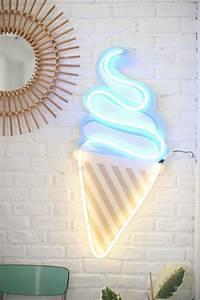 Neon Deco Chambre : diy ice cream neon diy loisirs creatifs pinterest deco decoration et glace ~ Melissatoandfro.com Idées de Décoration