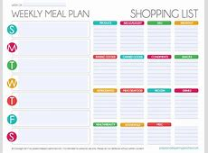 Free Editable Menu Plan and Grocery List! Passionate