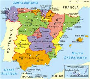 Administrative Spain Map