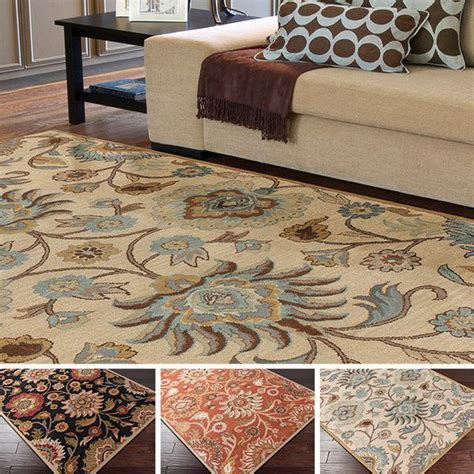 tufted alameda traditional floral wool area rug 9 39 x