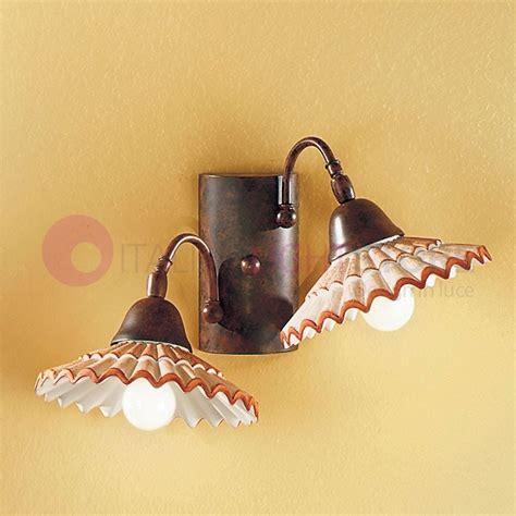 applique in stile vania applique 2 ceramica decorata lada da