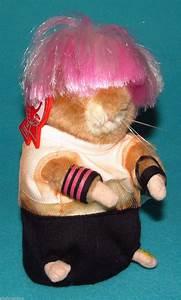 Gemmy Dancing Hamster Pink Hair Singing Plush Punk Rock ...