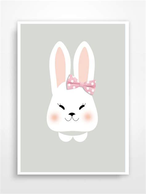poster chambre bébé affiche poster print lapin fille décoration pour