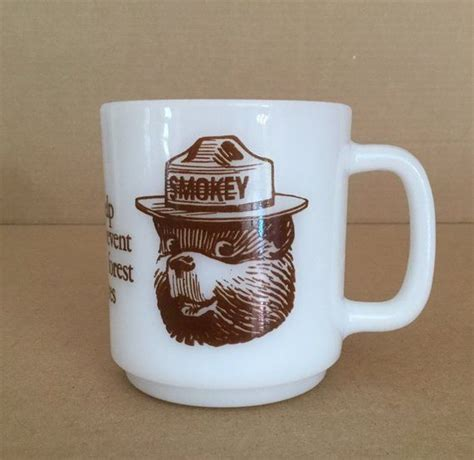 You will receive a tracking. Glasbake SMOKEY BEAR Coffee Mug - Only you can prevent forest fires | Mugs, Coffee mugs, Glassware