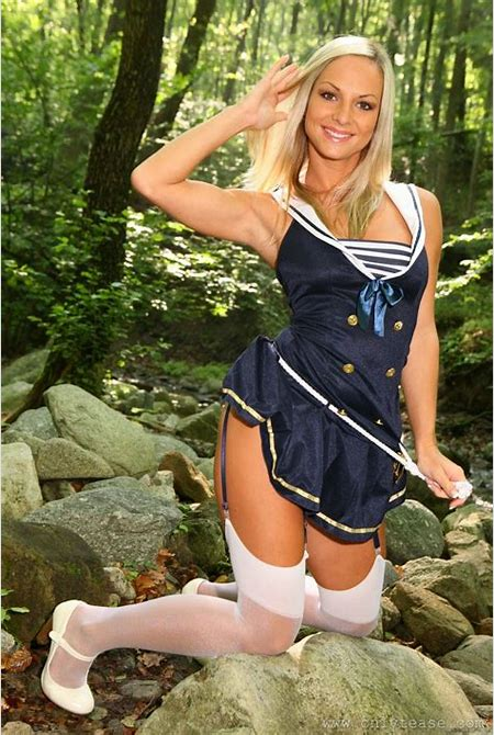 Sexy sailor uniform tease - only tease pics