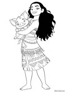 Moana Cartoon Coloring Pages