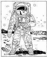 Coloring Astronaut Space Colouring Outer Astronaute Coloriage Moon Dessin Imprimer Astronauts Printable Planetarium Mobile American Cartoon Frais Tooth Espace Adults sketch template