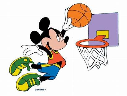 Basketball Mickey Mouse Clipart Disney Characters Goal