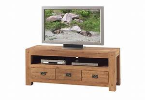 Meuble Tv 150 Cm : meuble tv l 150 cm en ch ne salon lodge casita koh deco ~ Teatrodelosmanantiales.com Idées de Décoration