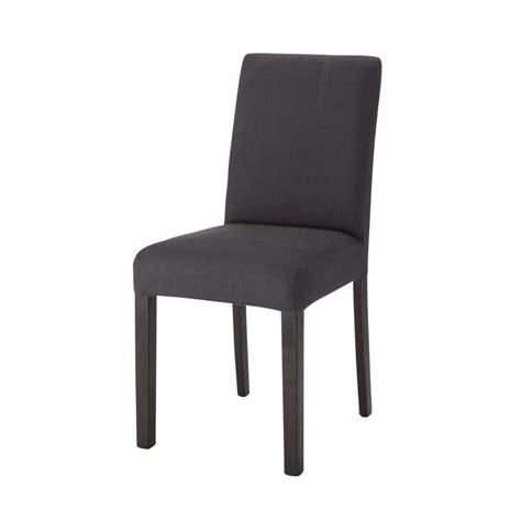housse de chaise en coton anthracite tempo maisons du monde