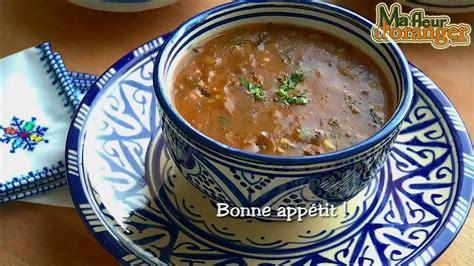 recette de harira soupe traditionnelle marocaine