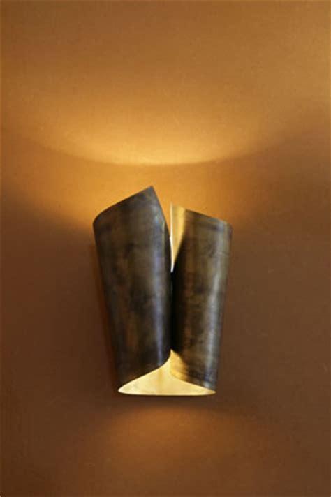wandlampen design  edelstahl und messing wandleuchten