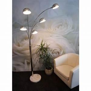 Lampadaire Moderne Salon : lampadaire de salon 5 branches achat vente lampadaire de salon 5 bra m tal marbre ~ Teatrodelosmanantiales.com Idées de Décoration