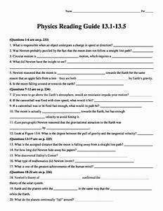 Conceptual Physics  2009  Reading Guide Worksheet Chapter