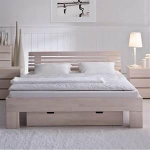 Bett 200x220 Weiß : hasena wood line premium 18 bett buche wei kopfteil litto 30 cm massa ~ Indierocktalk.com Haus und Dekorationen