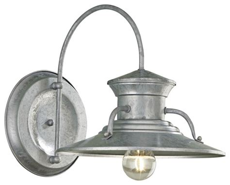 budapest 12 quot wide galvanized outdoor wall light
