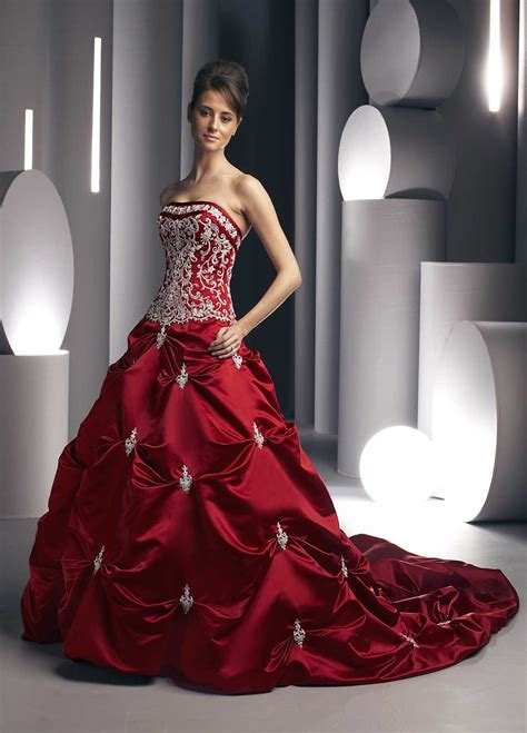 wedding planing red wedding dresses  red
