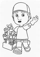 Manny Coloring Handy Greeting Tools Friends Printable Getcolorings sketch template