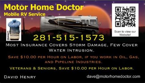 Discover what complete vehicle servicing feels like and start your adventure today. Motor Home Doctor Mobile RV Service Coupons near me in ...