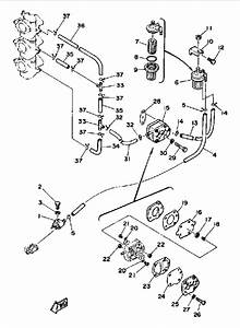 1988 Yamaha Fuel System Parts For 70 Hp 70etlg Outboard Motor