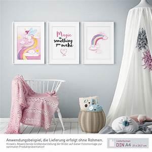 Kinderzimmer Bilder Mädchen : bilder kinderzimmer m dchen aquarell einhorn poster 3er set kullaloo ~ Markanthonyermac.com Haus und Dekorationen