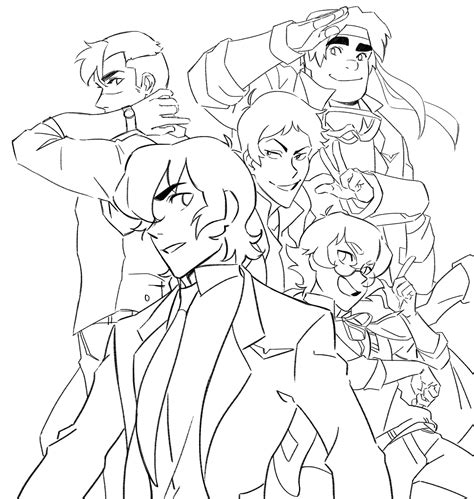 voltron coloring pages printable sketch coloring page