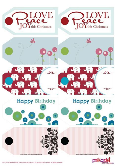printable gift tags christmas baby shower birthday