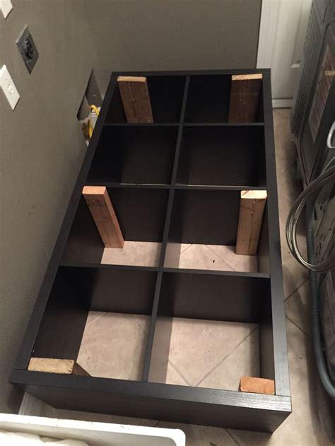 converting  ikea kallax book shelf   washerdryer