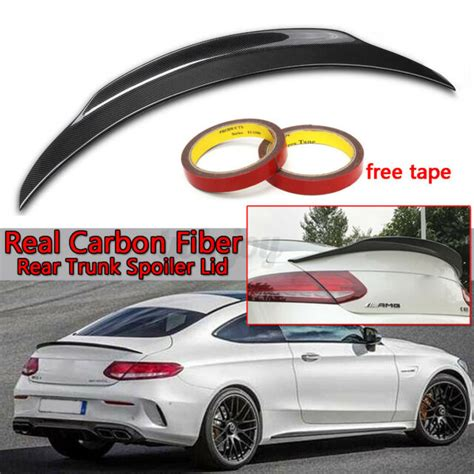 Let's take a closer look at several accessories you can enjoy on the. For Mercedes 15-2020 W205 Coupe C300 C43 C63 C63S AMG Carbon Fiber Trunk Spoiler | eBay