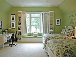 Bloombety, Relaxing, Bedroom, Green, Paint, Color, Schemes