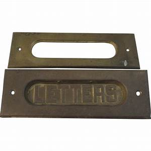 vintage brass letters mail slot from ssmooreantiques on With letters mail slot