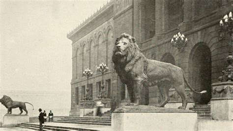 story   art institutes iconic lions wttw chicago
