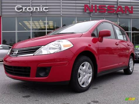 red nissan versa 2010 red alert nissan versa 1 8 s hatchback 21874469