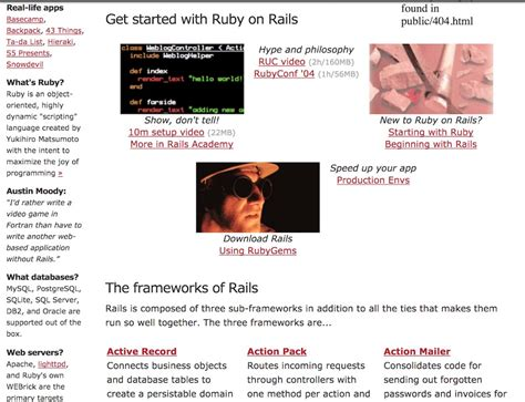 ruby rails framework making